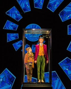 Ryan Yeates as Charlie and Paul Slade Smith as Willy Wonka in Charlie and the Chocolate Factory