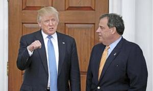 Donald Trump and Chris Christie meet at Trump International Golf Club in New Jersey Sunday.