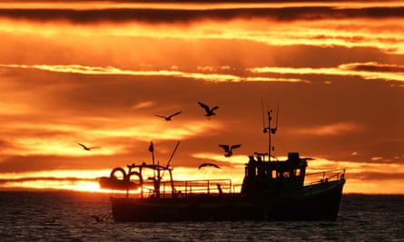 A fishing boat off Tynemouth.