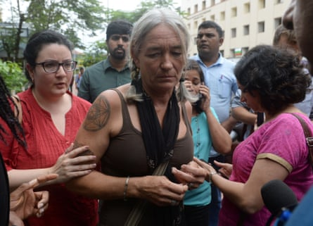 Scarlett Keeling's mother Fiona MacKeown at the Goa children's court in 2016