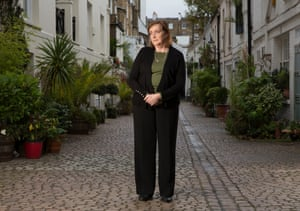 Labour Party MP for Kensington in London, Emma Dent Coad , photographed  near Gloucester Road tube station