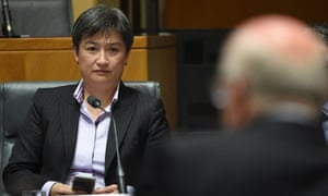 Penny Wong with George Brandis