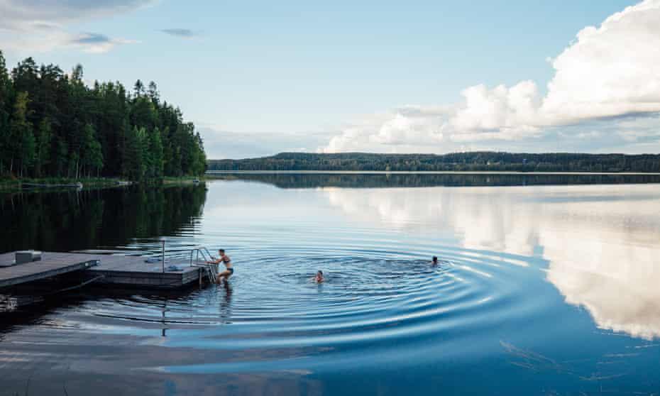 Sauna and lake Lahti Lehmonkarki Finland