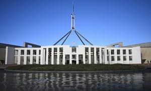 General view of Parliament House in Canberra
