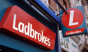 A Ladbrokes shop and sign