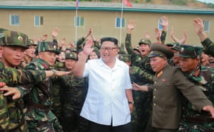 Kim Jong-un visits the 1524 unit of the People's Army of North Korea