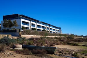 Luxurious resorts are being built. This one is less than 50m from high-tide, inside the Ria Formosa natural park. Two bedroom flats sold for more than half a million euros