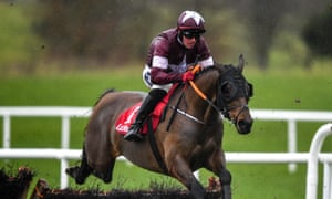 Tiger Roll jumps a flight during the Boyne Hurdle