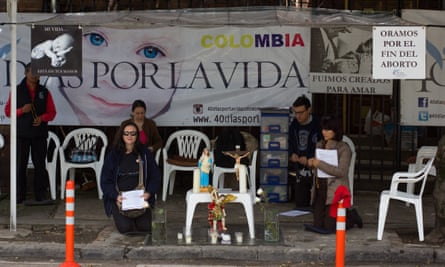 Organisations like 40 Days for Life are becoming increasingly vocal in countries such as Colombia.