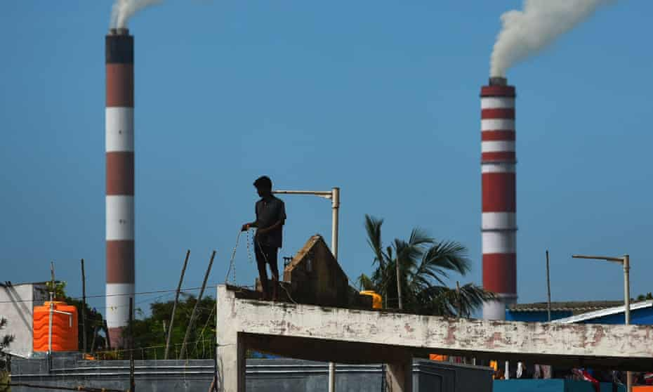 Smoke billows from a thermal power plant near Chennai. States across India have issued panicked warnings that coal supplies to thermal power plants are running perilously low.