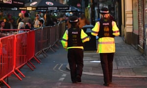 Police officers on patrol in Manchester
