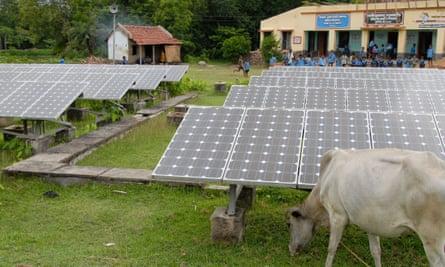 Photovoltaic park, India