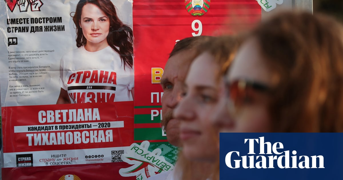 Belarus presidential election: opposition candidate goes in hiding on eve of vote - the guardian