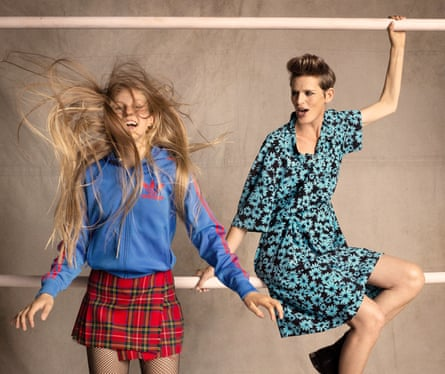 Stella Tennant and her daughter Iris, styled by Bay Garnet for Oxfam's Second Hand September.
