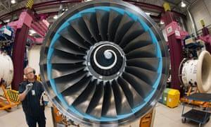 A Rolls-Royce engine