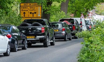 Traffic in Farnborough, Hampshire, on 11 May 2020