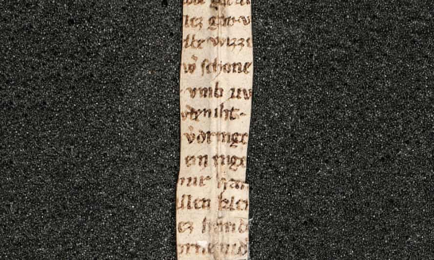 Fragments from 60 lines of The Rose Thorn (Der Rosendorn) discovered in the library of Melk Abbey, Austria.