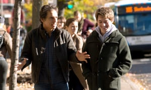 Dad's status ... Ben Stiller with Austin Abrams, who plays his son, in Brad's Status.