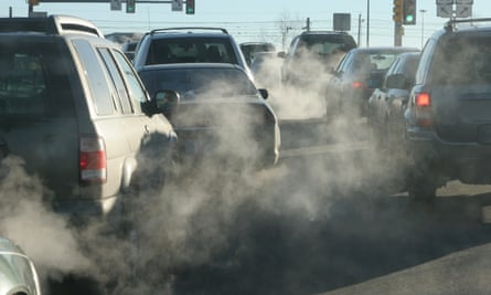 Clouds of exhaust fumes
