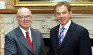 Hans Blix with Tony Blair in 2003.