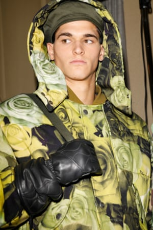 Model wears Moschino AW17