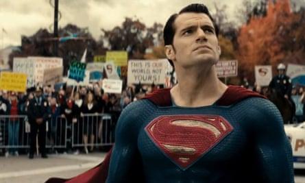 Henry Cavill in Batman v Superman in 2015.
