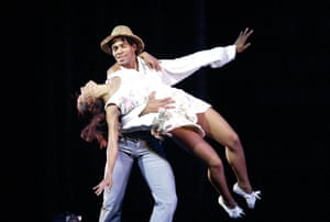 Veronica Corveas (Clarita) and Carlos Acosta (Tocorora) in Tocororo: A Cuban Tale by Carlos Acosta at Sadler's Wells in 2004