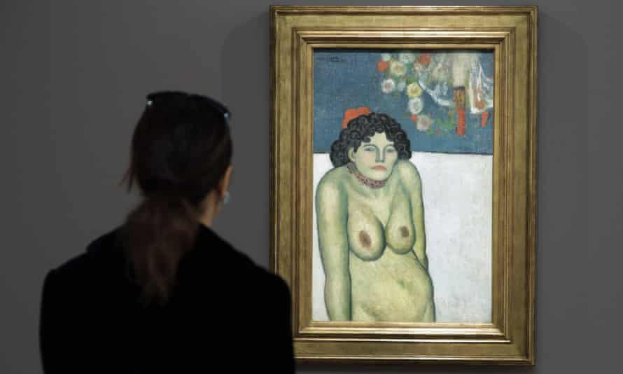 The Night Club Singer by Pablo Picasso. Taubman was a collector of the artist's work.