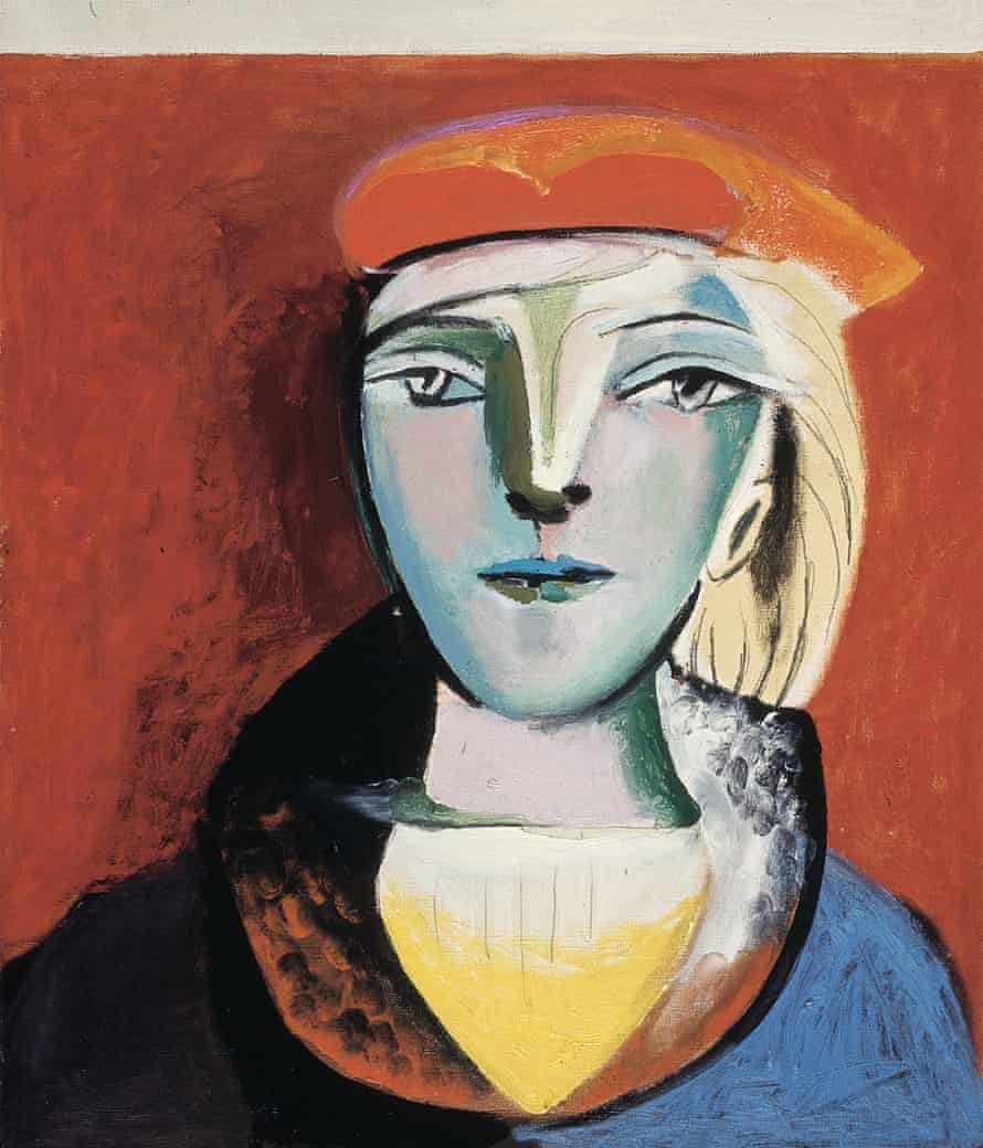 Picasso's Portrait of Marie-Thérèse in a Red Beret (1937).