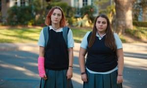 Saoirse Ronan, left, and Beanie Feldstein in Lady Bird.