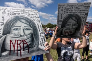 Community members and students participate in the March For Our Lives in Parkland, Florida.