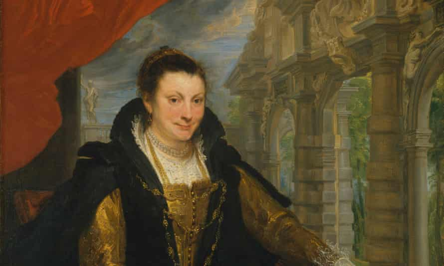 Smile, please … a detail from Van Dyck's portrait of Isabella Brant.