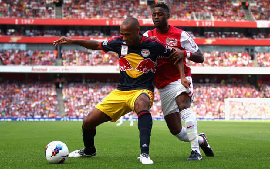 Thierry Henry in action for the New York Red Bulls against his former club Arsenal in 2011
