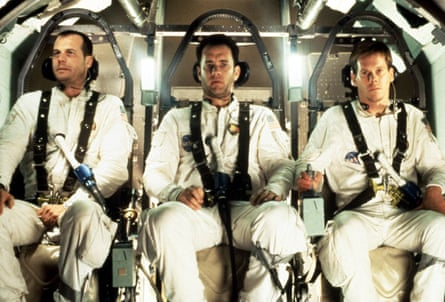 With Bill Paxton (left) and Kevin Bacon in Apollo 13.