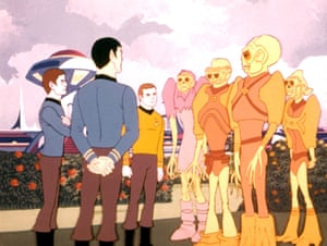 Wonky animation and trippy colours … the 70s animated Star Trek.