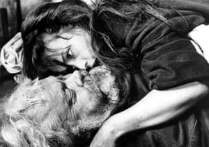 Orson Welles and Jeanne Moreau in Chimes at Midnight, 1965
