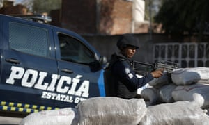 Local police in Guanajuato state, to the east of Jalisco. Mexico's president, Amlo, faces mounting pressure to catch El Mencho.
