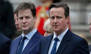 Nick Clegg with David Cameron
