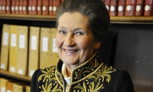 Simone Veil, Nazi death camp survivor and French politician who spearheaded abortion rights.