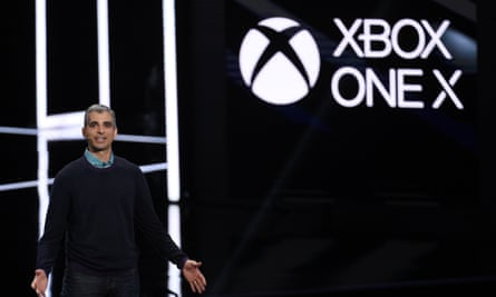 Kareem Choudhry introduces the Xbox One X gaming console.