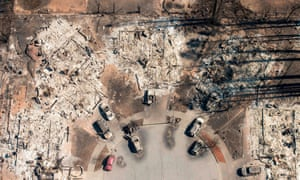 An aerial of Santa Rosa, California. The fires have transformed many neighborhoods into wastelands.