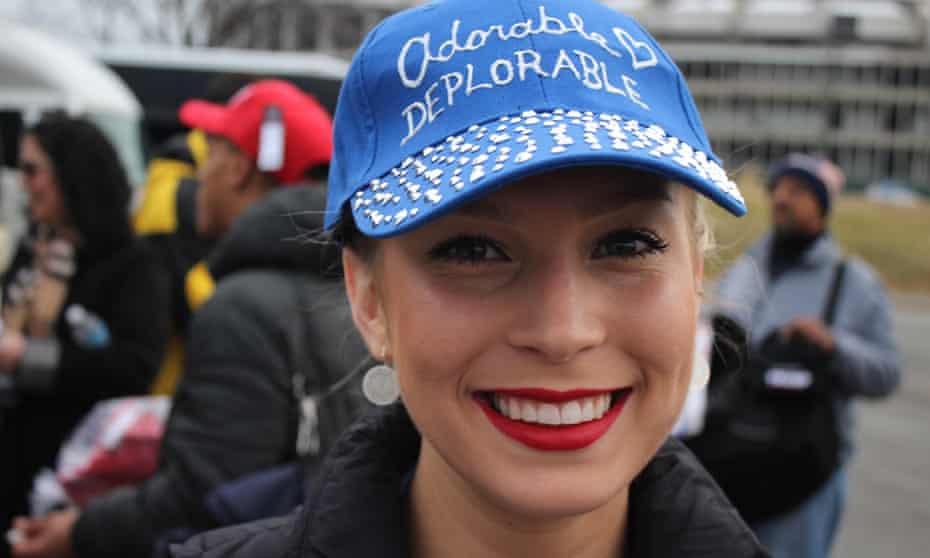 Brandi Tillman, 25, took the bus from Delaware to Washington to celebrate Trump's inauguration.