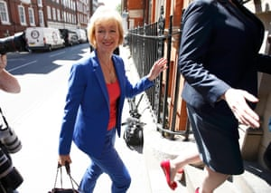 Andrea Leadsom prepares to launch her campaign to succeed David Cameron as Conservative leader in London, England