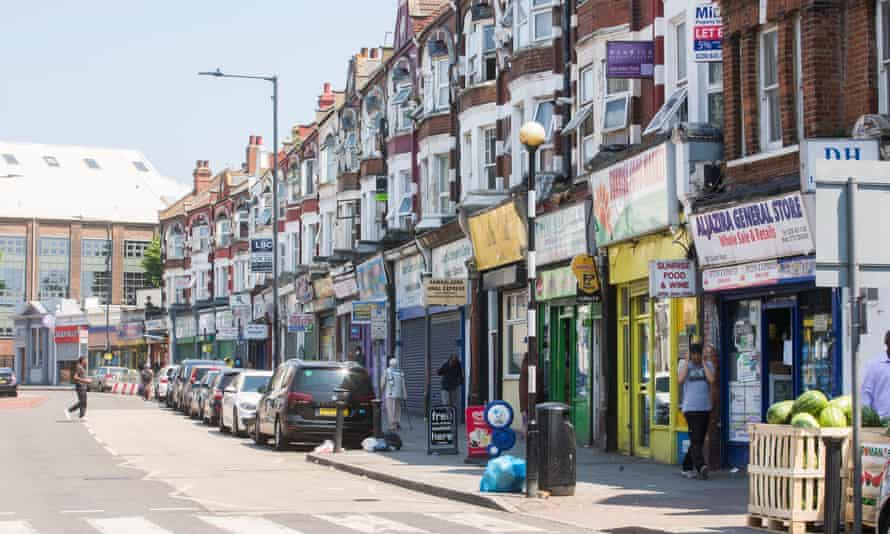 A row of shops on Church Road in Brent