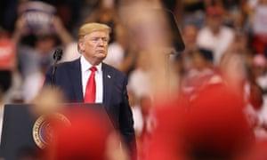 Donald Trump in Sunrise, Florida, on 26 November 2019.