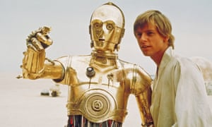 Droll droid … C-3PO, played by Anthony Daniels, in Star Wars