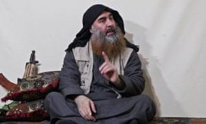 Abu Bakr al-Baghdadi in the latest Isis propaganda video