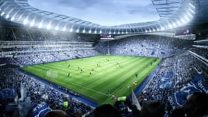 2018-19 season – an artist's impression of inside the stadium when it is completed