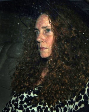 Rebekah Brooks leaves the office of the News of the World, 7 July, 2011.
