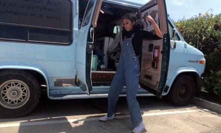 Eliana and her van
